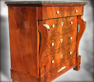 Commode Empire après restauration