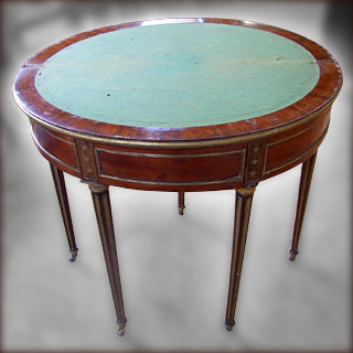 Table à Jeu Louis XVI avant restauration
