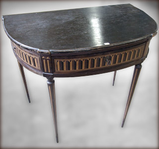 Console Louis XVI avant restauration