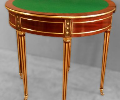 Table à jeu demi lune Louis XVI