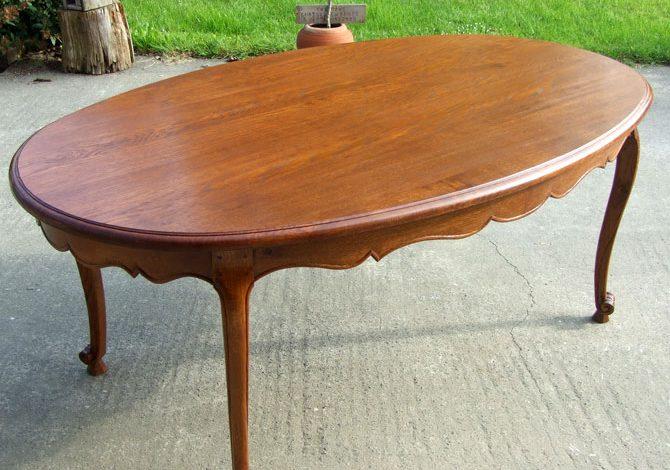 Table Ovale en Chêne